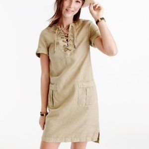 J. Crew Khaki Cargo Lace Up Dress Size 12